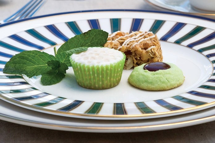 Pineapple-Coconut Granola Bars, Minty Chocolate Hole-in-One Cookies, Mini Golf Ball Cupcakes