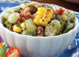 Chilled Succotash Salad with Red Wine Vinaigrette