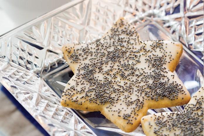 Poppyseed Cookies with Grapefruit Glaze