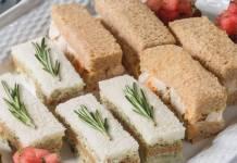 Mandarin Orange & Cashew Chicken Salad Tea Sandwiches