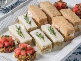 Olive-Goat Cheese Tea Sandwiches