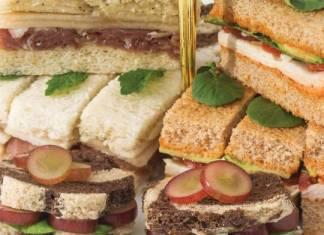 Smoked Chicken & Avocado Tea Sandwiches