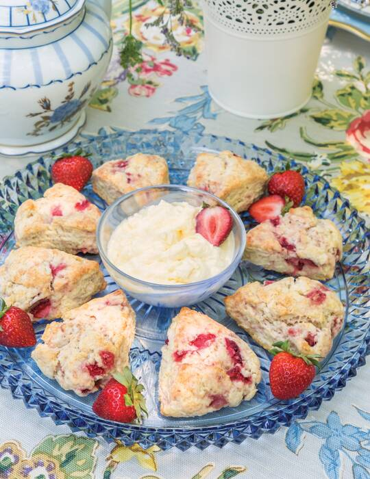 Strawberry & Orange Blossom Scones