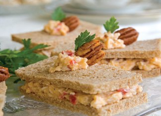 Spicy Pecan–Pimiento Cheese Tea Sandwiches