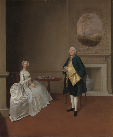 Painting by Arthur Devis, c. 1750