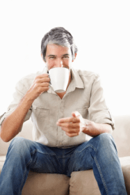 Fotolia cover man drinking tea