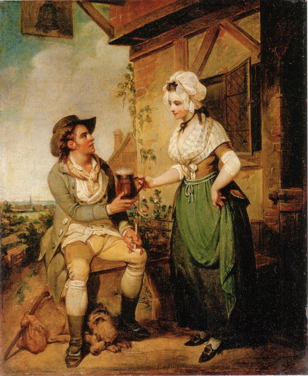 """The Alehouse Door"" by Henry Singleton 1790"