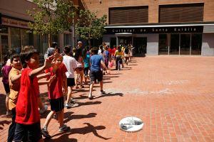 Plàudite Teatre amb alumnes de l'escola Milagros Consarnau