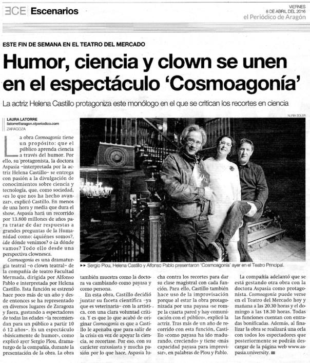 El Periodico - Cosmoagonia