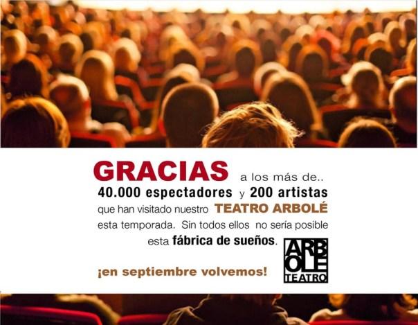 Temporada con 10% incremento de público en Teatro Arbolé
