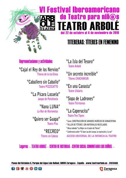 VI Festival Iberoamericano de Teatro para niñ@s de Teatro Arbolé