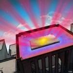 un espejo para refrigerar edificios