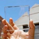 Placa solar trasparente