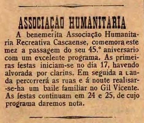 45º ANIVERSÁRIO DA ASSOCIAÇÃO RECREATIVA CASCAENSE