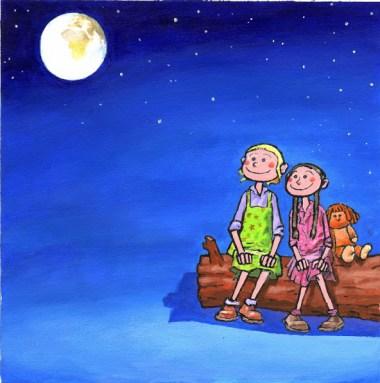 bambini e luna