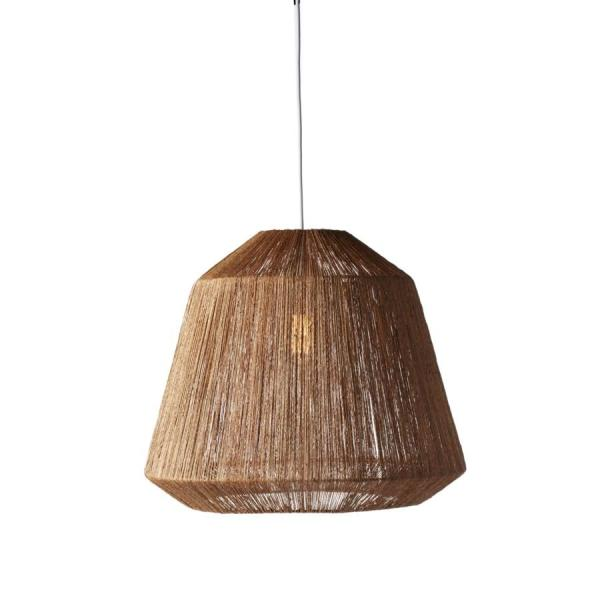 Jute Inspired Mid-Century Lamp