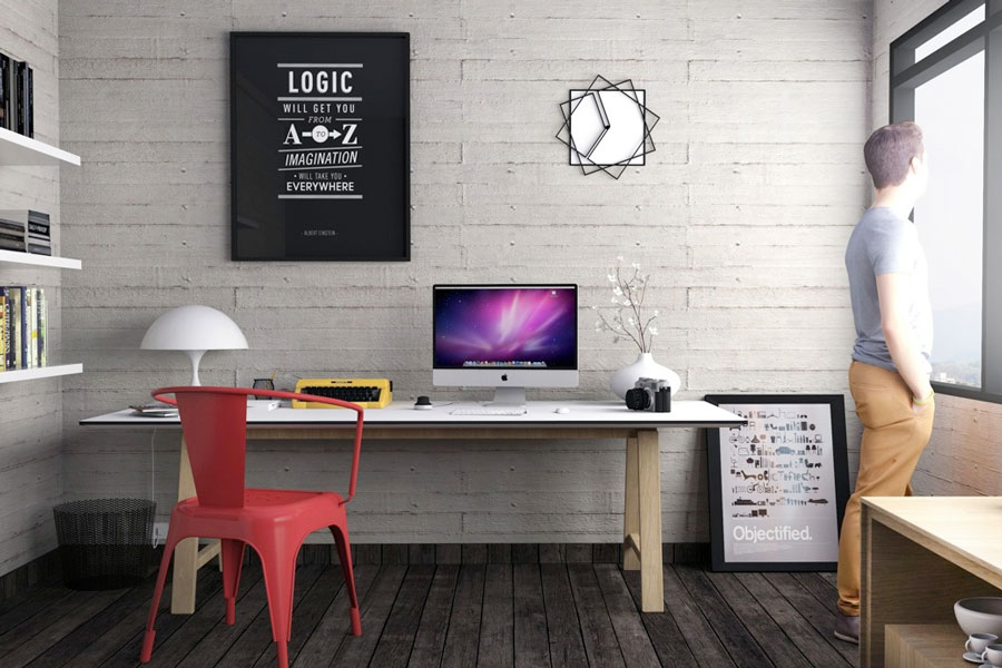 Industrial Inspired Home Office