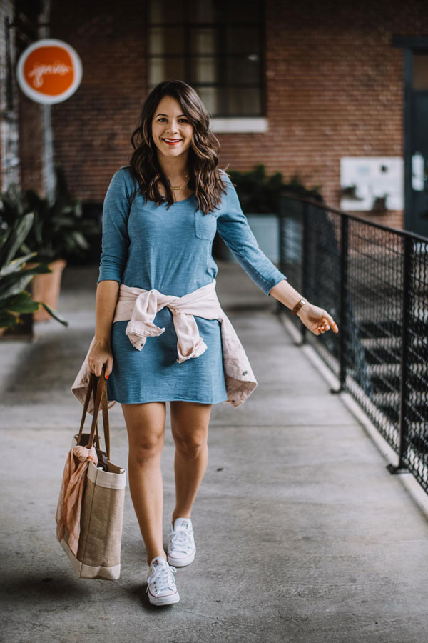 Sporty Style with A T-Shirt Dress