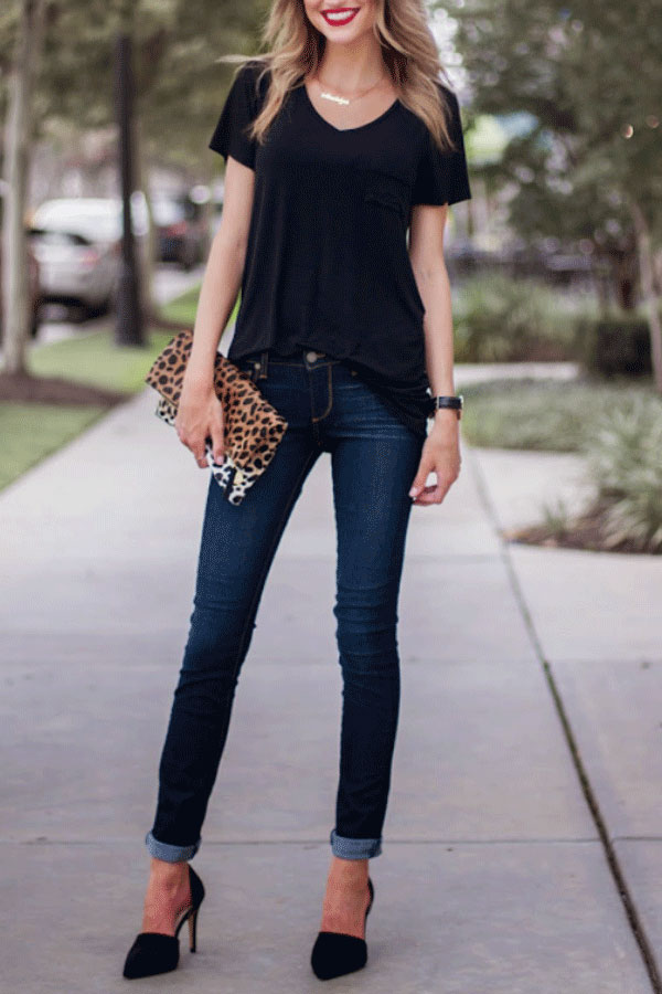 Take Your Black Tee Up A Notch