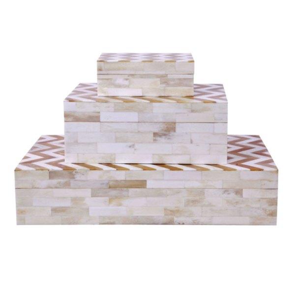 Chevron Bone Inlay Box