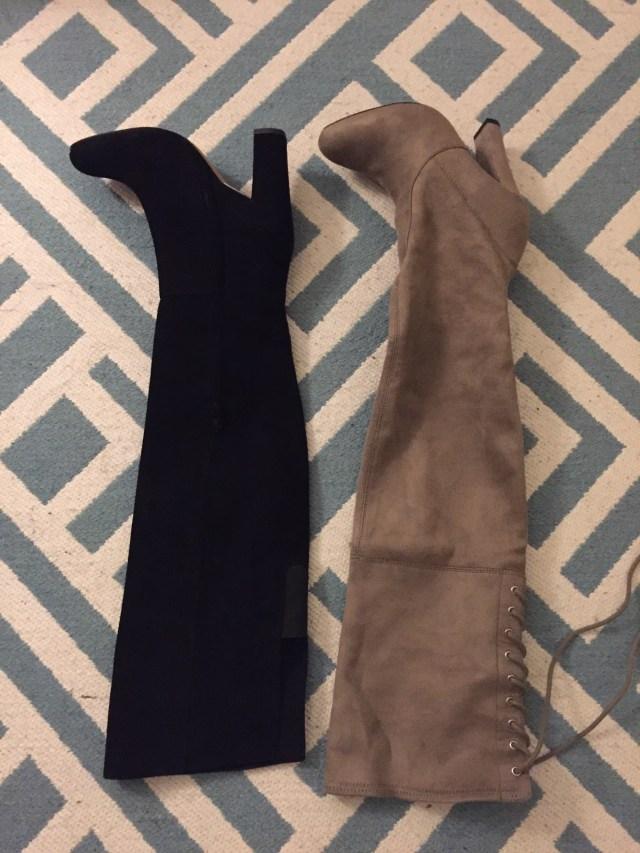Halogen vs. Steve Madden OTK boots