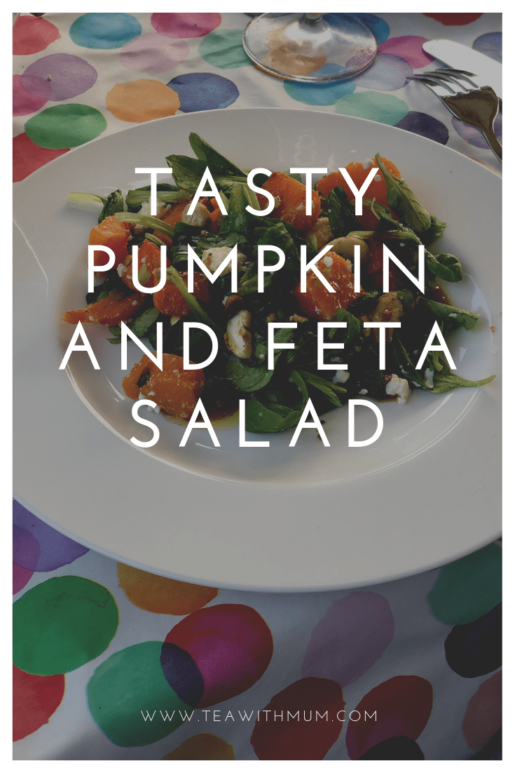 Tasty pumpkin and feta salad