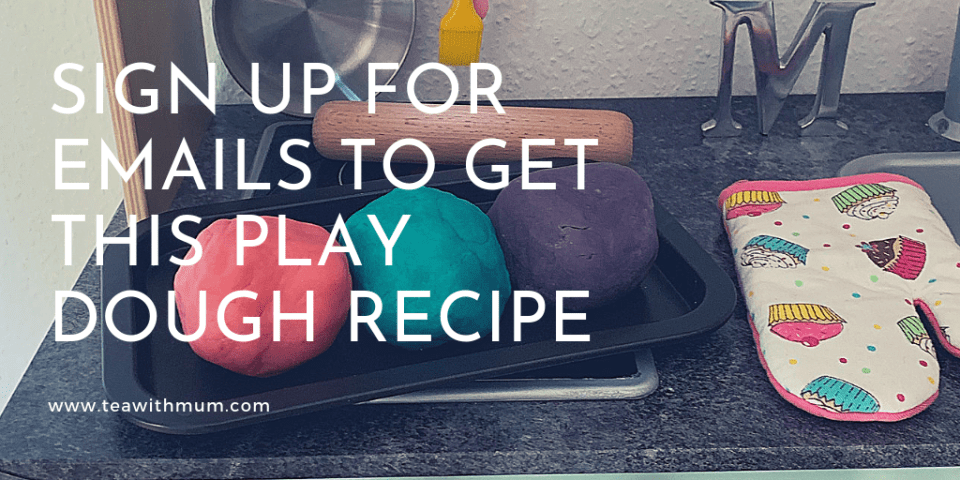 Sign up for email to get play dough recipe