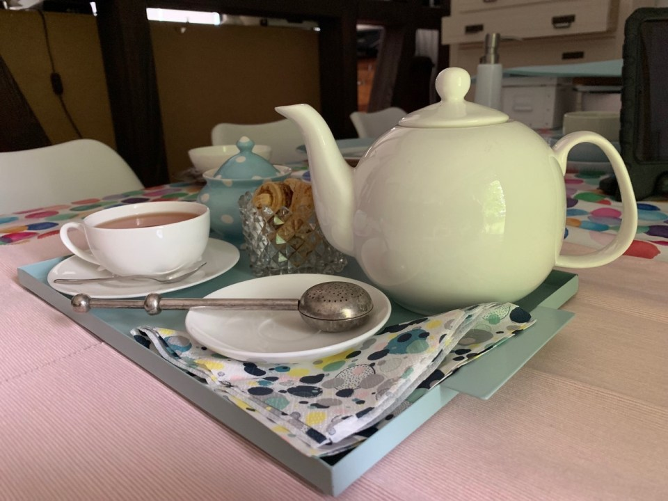Tea with Mum finally has a teapot, styled here ready to take tea with Mum