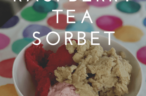 Raspberry tea sorbet