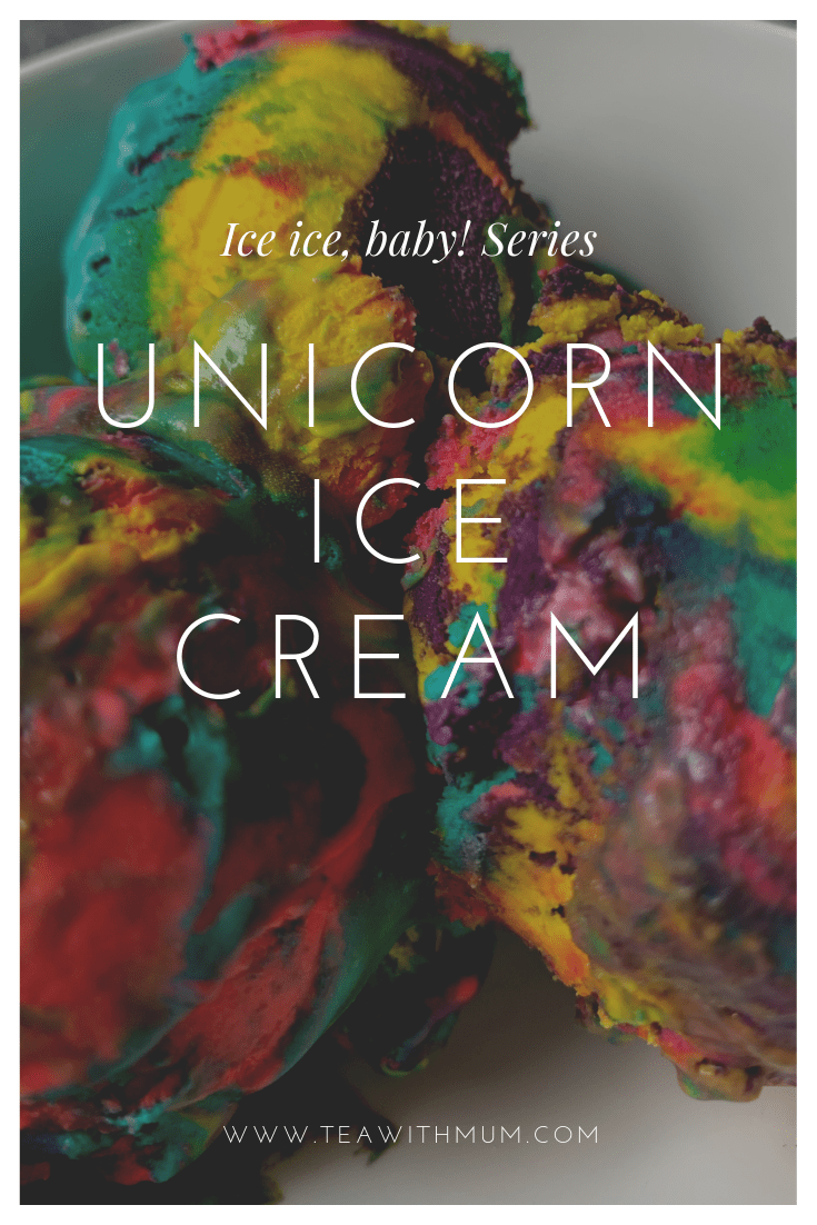 Whimsical unicorn ice cream