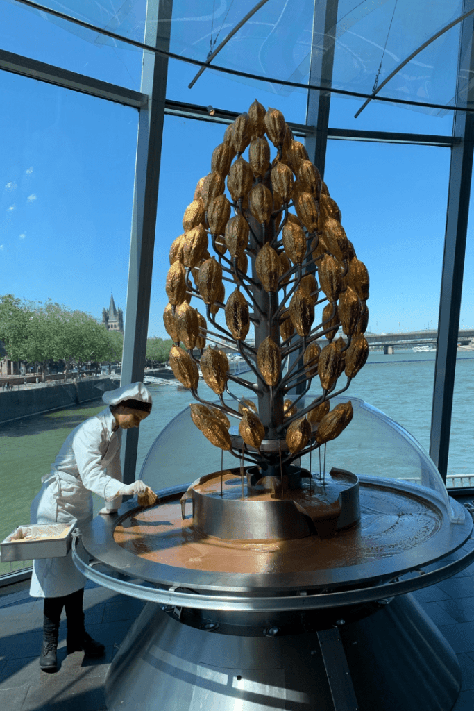 Cologne in a day: chocolate fountain