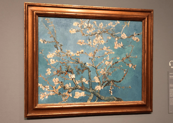 Almond Blossoms by Vincent Van Gogh, at the Van Gogh Museum in Amsterdam