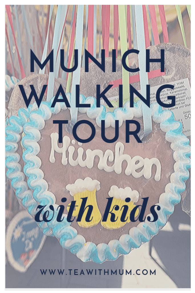 A walking tour of Munich's old town, with kids; child tested route with highlights, information and tips for your Muenchen walking tour; Lebkuchen hearts at the Viktualienmarkt; www.teawithmum.com