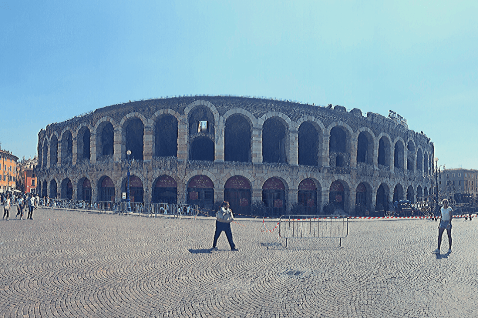 What to do in Verona with kids: the Arena di Verona, one of the highlights of a trip to Verona; what to do in the north of Italy with a  small child