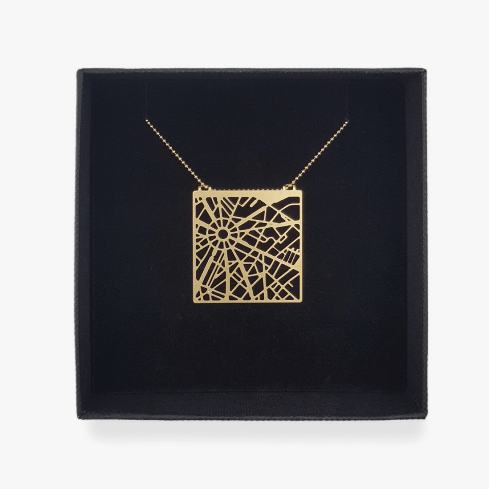 Modern map pendant by Talia Sari, various cities available and customizable too! A great moment of a recent trip or somewhere special; perfect gifts for travellers