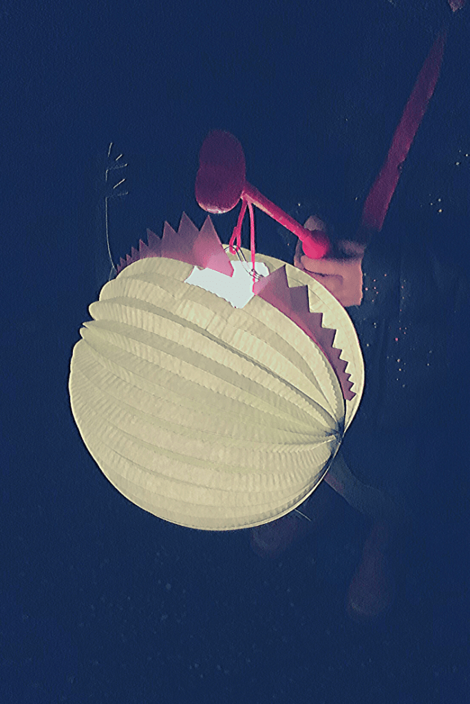 Dinosaur lantern for the St Martin's Day procession