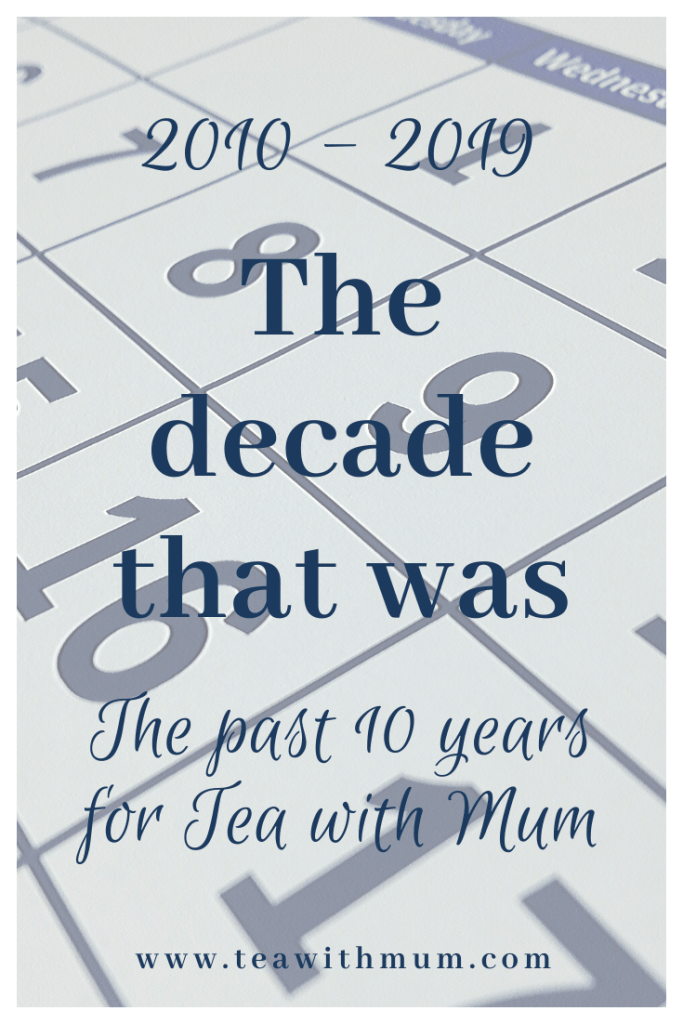 The decade that was: 2010 - 2019: The past 10 years for Tea with Mum, with calendar in background