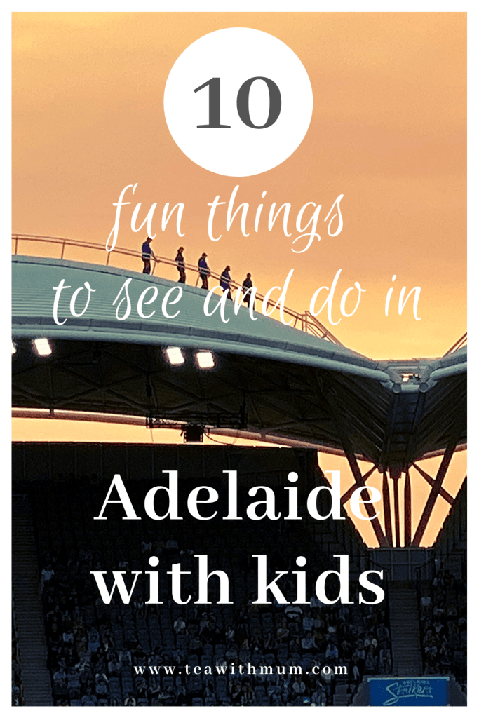 10 fun things to do and see in Adelaide with kids of all ages: Tips from a local. Activities within the CBD and Parklands. Image of roof climbers at Adelaide Oval.