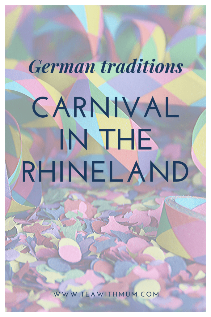 German traditions: Rhineland Carnival: what is it? When is it? What are its origins? How is it celebrated? How does it differ from Fastnacht? What costumes are we wearing? Image: confetti and streamers from Canva.