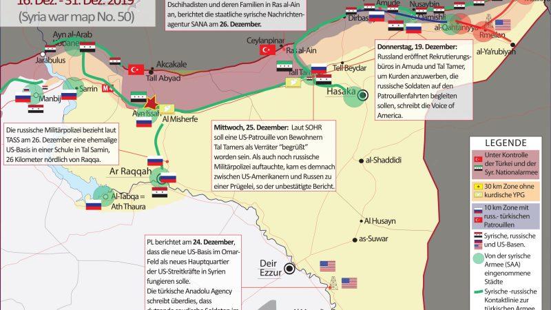SYRIEN-KRIEG AKTUELL (Syria War Map) Nr. 50, 16. – 31. Dezember 2019