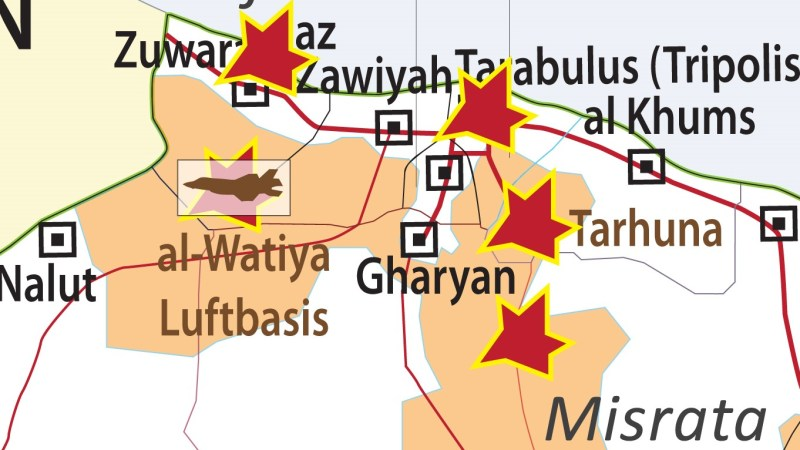 Kampf um wichtige Luftwaffenbasis in Libyen