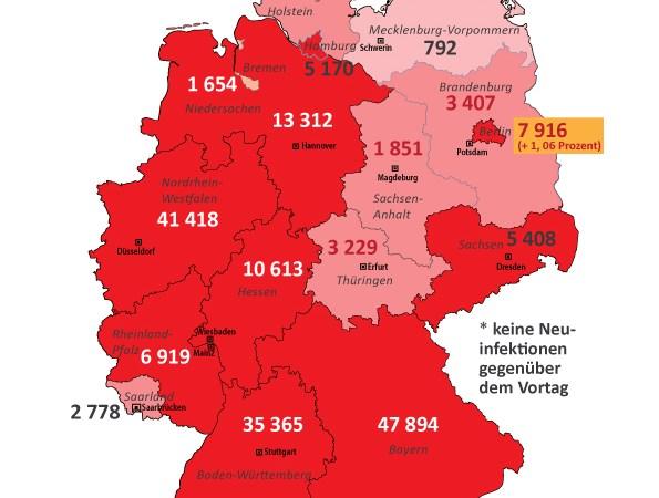 +++ Tebels Coronavirus-Karte von Deutschland +++ aktueller Stand: 23. Juni, 0.00
