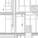 Sample extract of a detailed drawing for construction and Building Regulations approval purposes