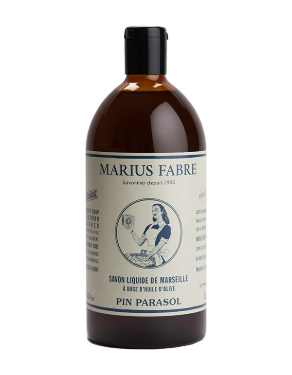 sapone liquido di marsiglia ricarica 1000ml pin parasol marius fabre tec-terreecolori calestano-parma