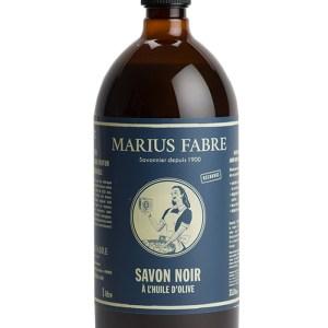sapone nero marsiglia liquido 1000ml con olio d'oliva marius fabre tec-terreecolori calestano-parma