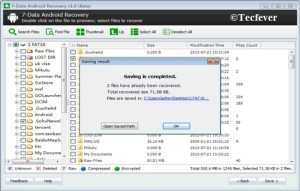 Recover Deleted Files From Android Phone-Tecfever 3