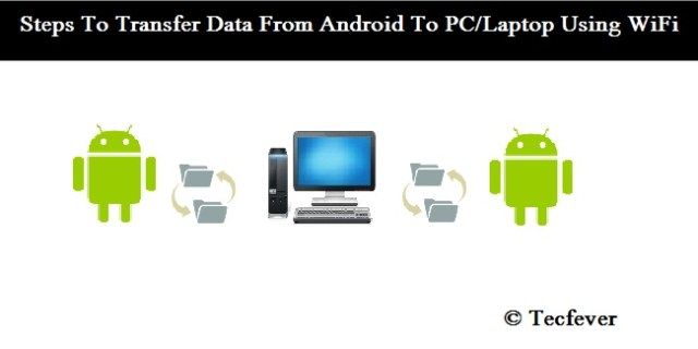 Steps To Transfer Data From Android To PC Laptop Using WiFi-Tecfever