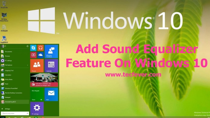 Add Sound Equalizer Feature On Windows 10