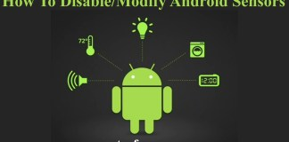 How To DisableModify Android Sensors