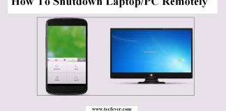 Shutdown Laptop or PC Remotely